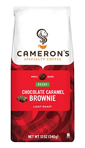 Cameron's Decaf Whole Bean Coffee, Chocolate Caramel Brownie, 12 Ounce (packaging may vary) (Chocolate Coffee Beans Whole compare prices)