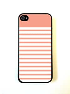 Coral Stripes iPhone 5 Case - For iPhone 5/5G - Designer PC Case Verizon AT&T Sprint