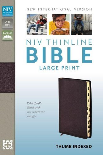 NIV, Thinline Bible, Large Print, Bonded Leather, Burgundy, Indexed, Red Letter Edition PDF