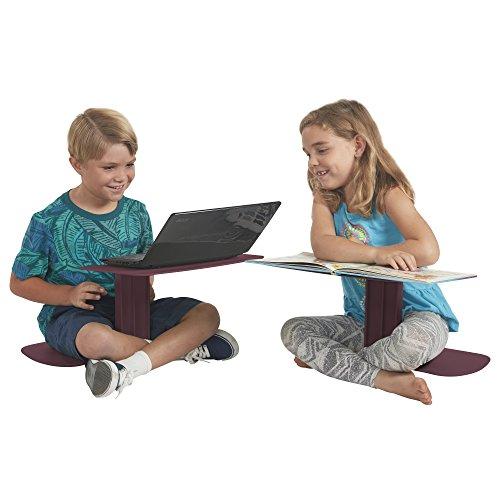 ECR4Kids The Surf Portable Lap Desk/Laptop Stand/Writing Table, Burgundy by ECR4Kids