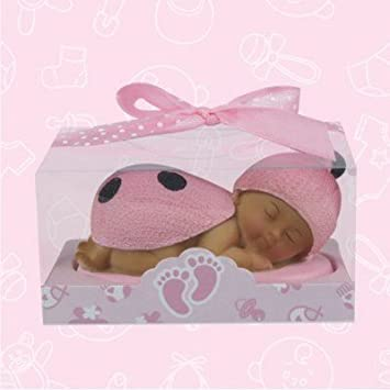 24 Ethnic African American Pink Ladybug Baby Shower Favors In Box Gift  Keepsake Favor