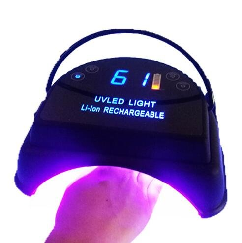 3 hours 64 W rechargeable wireless led nail lamp