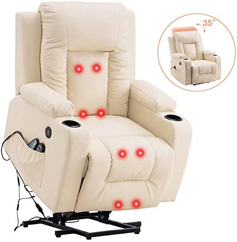 Power Lift Recliner Chair Massage PU Leather Single Sofa