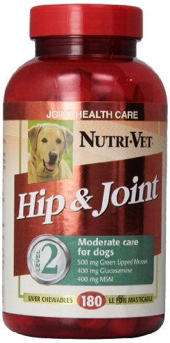 Nutri-Vet Hip and Joint Level 2 Chewable Tablet for Dogs, 180-Count