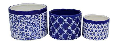 (Evergreen Nested Ceramic Cashepot Planter, Set of 3)
