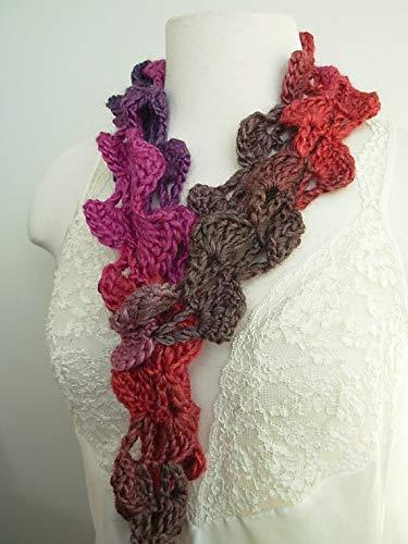 Scarf Hand Crocheted Fashion Accessory Plum