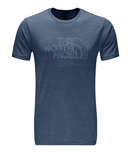 The North Face Men's Short Sleeve Tri-Blend Tee Shady Blue Heather/Dusty Blue XX-Large