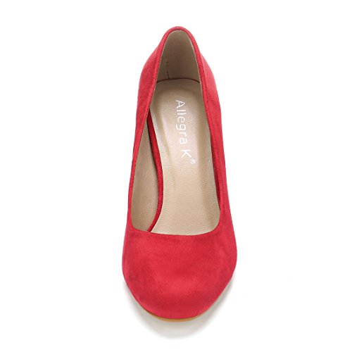 Women's Pumps Allegra Red High Classic Block K Heel HwfwxBq