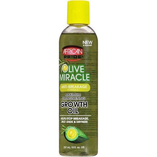 Oil Treatment Virgin Hair Olive Extra (AFRICAN PRIDE OLIVE MIRACLE GROWTH OIL 8oz MAXIMUM STRENGTH)