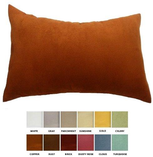 dreamhome-solid-faux-suede-decorative-pillow-cover-sham-12-x-18-copper