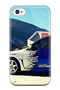 YdjClpa3720VkMeh Jeremy Myron Cervantes Subaru Rally Blue Car Parked In Snow Feeling Iphone 4/4s On Your Style Birthday Gift Cover Case