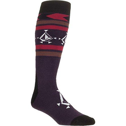 Volcom Junior's Spear Snowboard Sock, Deep Purple, Small/Medium