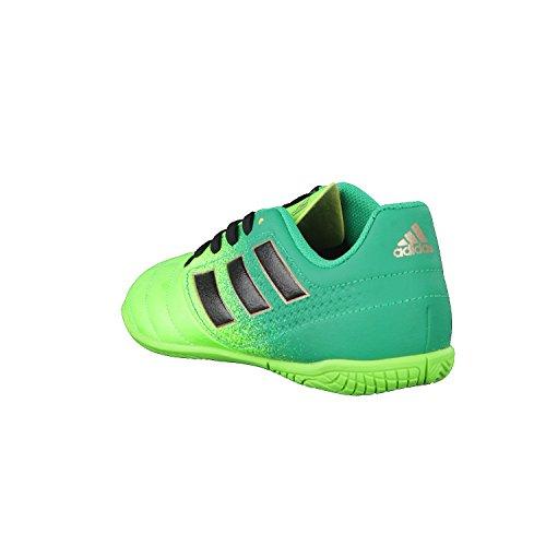 Adidas Ace 17.4 In J, pour les Chaussures de Formation de Football Mixte Enfant, Vert (Versol/Negbas/Verbas), 34 EU