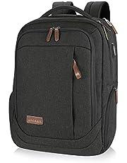 KROSER Laptop Rucksack Schulrucksack 17,3 Zoll Tagesrucksack Wasserabweisende Laptoptasche mit USB Ladeanschluss für Business/Schule/Reisen/Frauen/Männer MEHRWEG