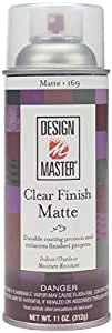 Design Master DM-HDF-169 Home Decor Finish Aerosol Spray, 11-Ounce, Clear Matte