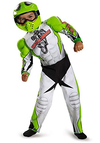 Motocross Costume For Kids (Motocross Toddler Muscle Costume, Medium (3T-4T))