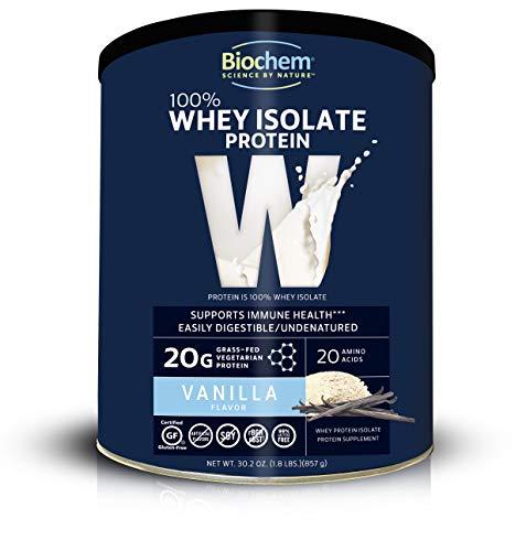 Biochem 100% Whey Protein Vanilla 1.8 Lb, Immune Health & Muscle Support Protein Powder