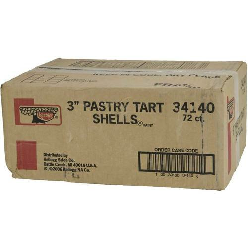 Shell Keebler Ready Crust Pastry Tart 3 inch 72 per case.