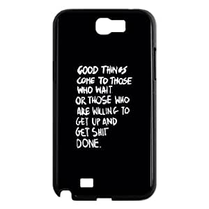 Samsung Galaxy N2 7100 Cell Phone Case Black quotes good things comes get shit done H3B5OP