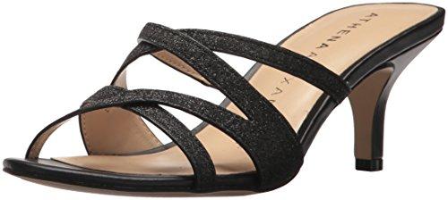 Athena Alexander Women's Starlight Heeled Sandal, Black, 7.5 M US