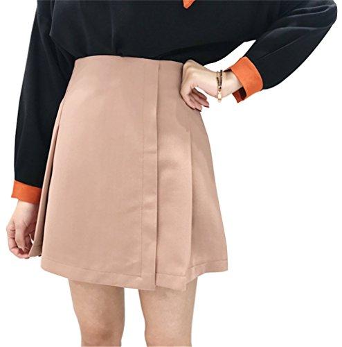 付属品記念碑スクラップ[リュハイ] ハイウエスト ショートスカート 薄い 通勤 清新 おしゃれ 魅力 きれいめ 可愛い