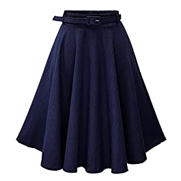 Summer Skirt for Women Denim Skirt with Belt for Summer