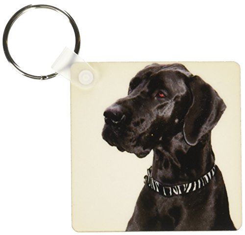 Black Great Dane Keychains2.25 x 4.5 inches, set of 2