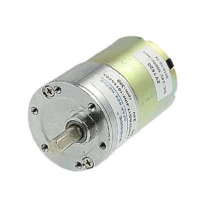 DealMux DC 24V 0.33A 300 rpm 4.57Kg.cm High Torque Gear Box Motor