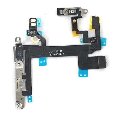 Power Volume Button (Power on Off Volume Button Silent Switch Flex Cable Ribbon Replacement for IPhone 5s)