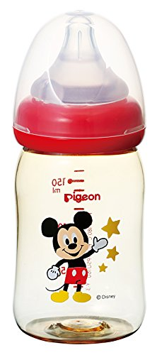 Pigeon Peristaltic PLUS PPSU Nursing Bottle BPA Free 160ml with nipple size SS/ Mickey Mouse/-Japan import