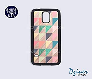 Galaxy S5 Case - Colorful Pyramid Wood Print