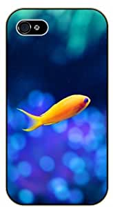 iPhone 4 / 4s Goldfish single - black plastic case / Nature, Animals, Places Series by icecream design
