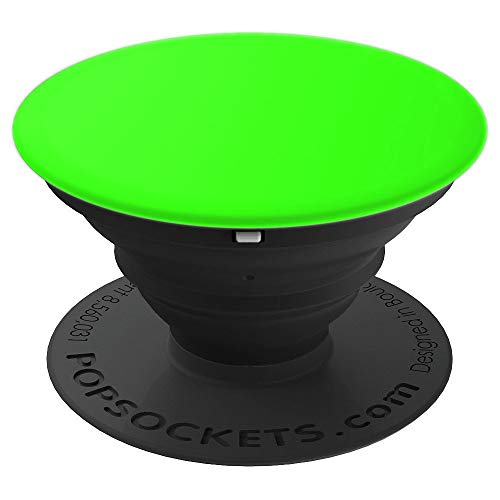 Solid Lime Neon Green Bright Light Verde Plain Color Gift - PopSockets Grip and Stand for Phones and - Verde Mount Color