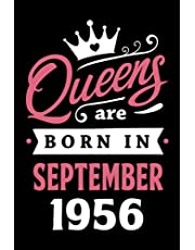 65th Birthday Gifts for Women: Queens Are Born in September 1956: Funny Notebook for Women's, 65th Birthday Notebook for Women, Gift for Women Birthday Unique … Journal for Women (Notebook a5 Lined)