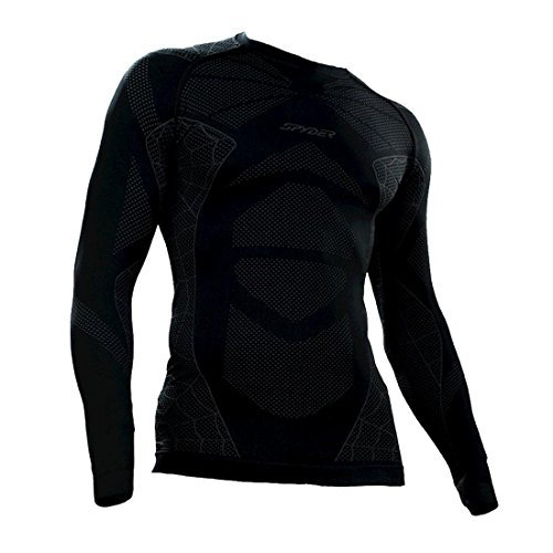 Spyder Base Layer - Spyder Men's Captain Top, Large/X-Large, Black/Polar