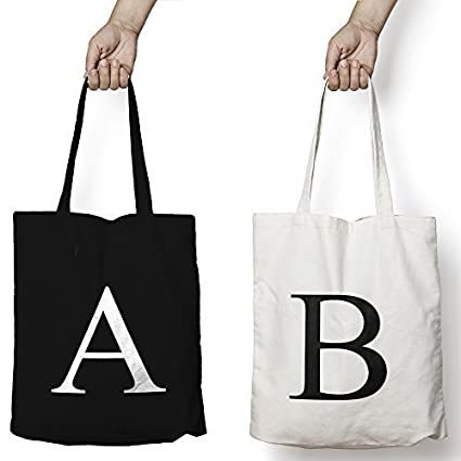 1ab62048b Personalised Tote Bag ANY LETTER Alphabet Printed Custom Cotton Tote Shopper  Birthday Gift Christmas Xmas Present (Natural, Letter H): Amazon.co.uk:  Kitchen ...