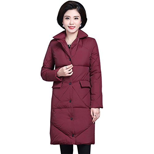 Clothing Coat red Xuanku Cotton wine Cotton Duvets And Winter Women GLS1716 Long qBBx6HwCR