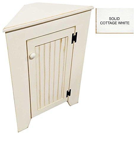 Wooden Corner Cabinet - Wooden Corner Cabinet (Solid Cottage White)