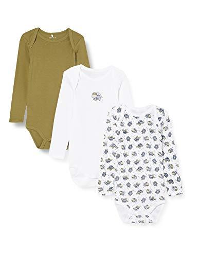 Name It Nbmbody 3p Ls Loden Turtle Noos Baby-Jongens Baby en peuter Set ondergoed (3-Pack)