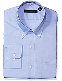 Men's Non Iron Regular Fit Solid Button Down Collar Dress Shirt