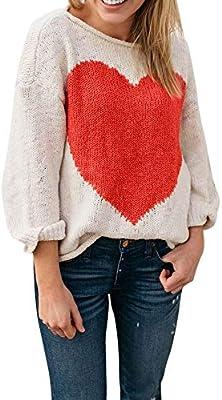 Clerance Venda! Jersey para mujer con diseño de corazón, cuello ...