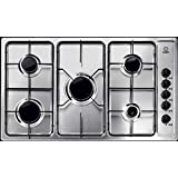 Indesit 5 Burners Built-in Gas Hob, Stainless Steel With Electronic Ignition & Full Safety PIM-950ASIX