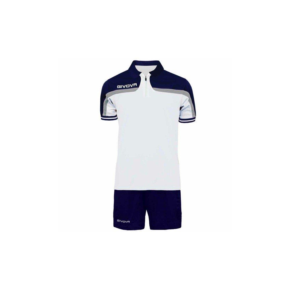 TALLA S. Givova, kit fast, blanco/azul , S