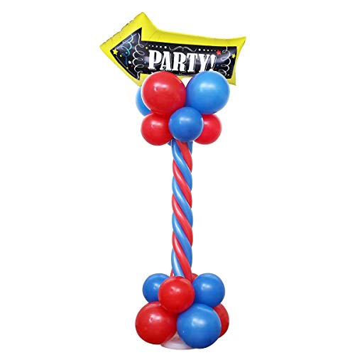 Amosfun Birthday Party Balloon Column Balloon Stand Base Arrow Decorative Sign Party Home Office Bar Hotel Decorations (Red and Blue) ()