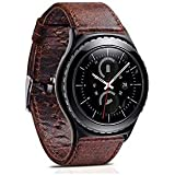 For Samsung Gear S3 Watch Band Crazy horse Real Leather strap Replacement Bracelet Strap
