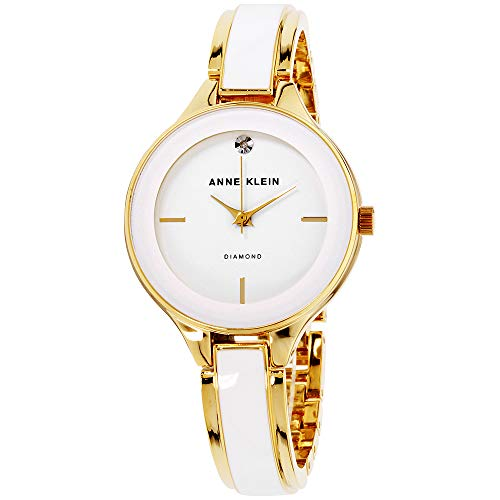 Anne Klein Classic White Dial Stainless Steel Ladies Watch ()