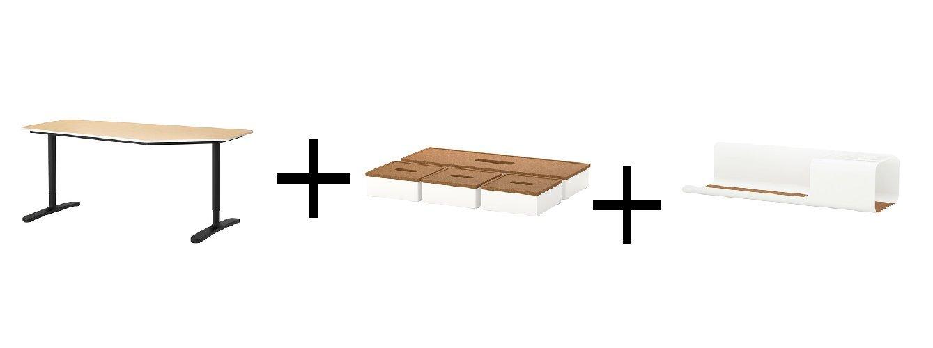 IKEA 5 caras mesa, chapa de abedul, negro, caja con tapa, juego de ...