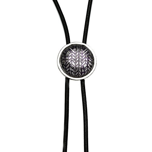 TAMARUSAN Bolo Tie Silver Lame Leather Lace Navy Blue Herringbone Nickel Free Blue Lace Bolo Tie