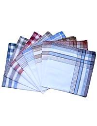 3 estilos de pañuelos de algodón para hombre, diseño de rayas, 40 cm, cuadrados