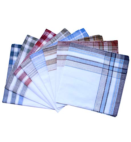 Assorted Mens Classic Striped Border Cotton - Assorted Borders
